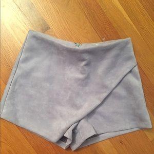 LF suede envelope skirt